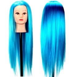 JS Oefenhoofd Kapper met Blauw Haar