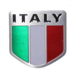 JS Italiaanse Vlag Sticker Auto van Metaal