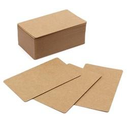 JS Kraftpapier 100pcs blanco kaarten om berichten of notities op te zetten