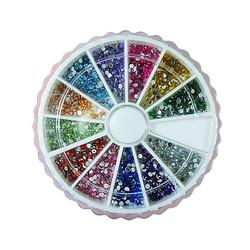 J&S Supply Nail Art Steentjes Glitter in 12 Kleuren