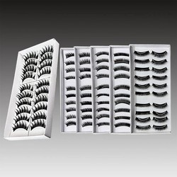 JS Modieuze Zwarte Valse Wimpers 10 Paar