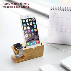 JS Houten Docking Station Voor Apple Watch & iPhone