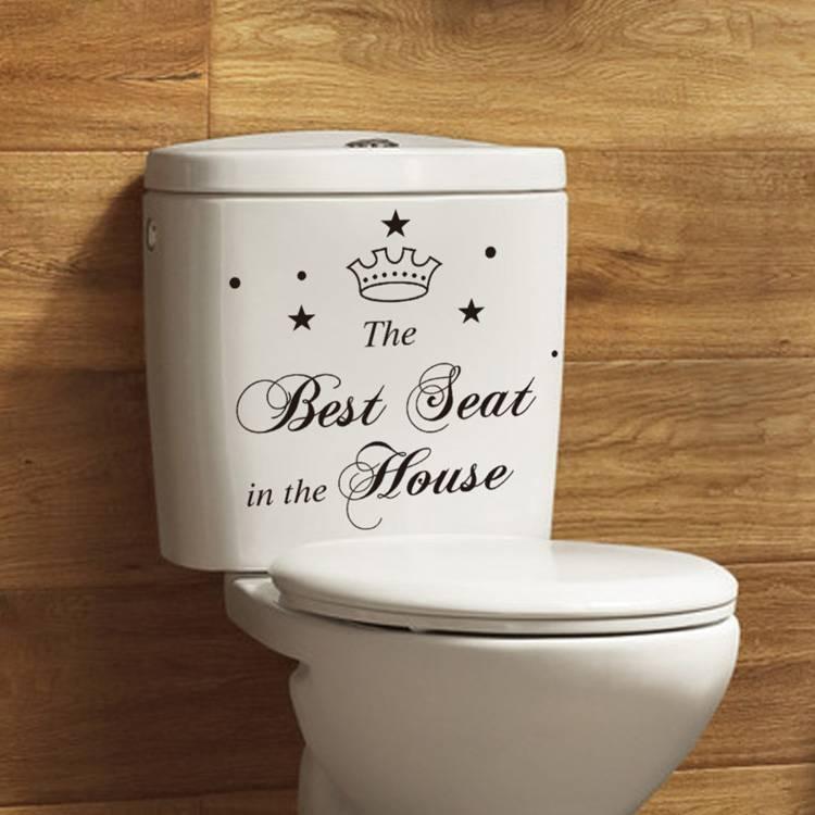 WC Decoratie Sticker