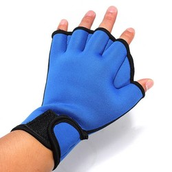 JS Zwemhandschoenen In het Zwart En Blauw