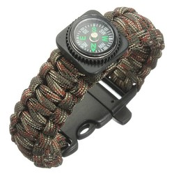 J&S Supply Kompas Paracord Armbanden
