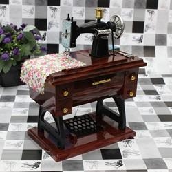 JS Vintage Mini Naaimachine Muziekdoosje