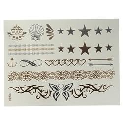 J&S Supply Goud Zilveren Nep Tattoo Sticker