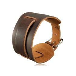 JS Brede Leren Armband