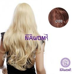 NAWOMI Clip In Extensions Bruin (7 Stuks)