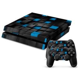 JS Blauw-Zwarte Console Skin Voor De Playstation 4