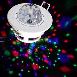 JS 3W LED Draaiende Disco Lamp
