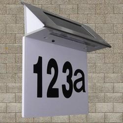 J&S Supply Zonne Energie Verlichte Huisnummers