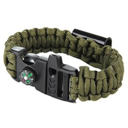 J&S Supply Paracord Survival Armband met Opener en Kompas