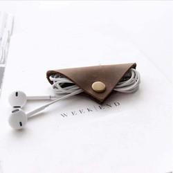 MyXL Lederen Oortelefoon kabelhaspel gewikkeld Koord Lijn Plug Spoelopwinder Clip Holder Wrap Wire Organizer wirding draad hulpmiddel