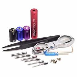 MyXL Universele Gereedschappen Draad Coiling Tool CW toolbox RDA pre coil vape tool box master vape jig kit 6 in 1 draad coiling machine koiler k