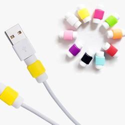MyXL 20 Stuks Usb-kabel Protector Mouw D2 Mobiele Telefoon Oplader Cord Protector Siliconen Voor IPhone Lijn Beschermende