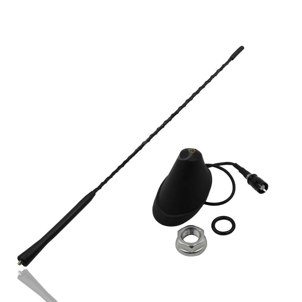 Auto Accessoires Collectie 9 Whip Dak Mast AM-FM Antenne Antenne + Base Voor VW Jetta Bora Golf Polo