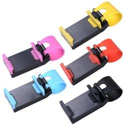 MyXL Universele auto stuurwiel mobiele telefoon houder beugel voor iphone 4 5 6 s plus voor samsung s4 s5 s6 smartphone ondersteuning gps