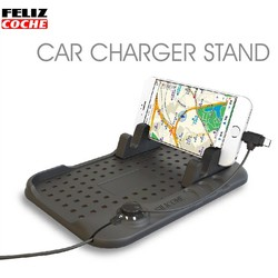 MyXL Universele Auto Telefoon Houder Pad Dashboard Mobiele Telefoon Houder Antislip Mat Navigatie Mobiele Telefoon Usb Lader A7063