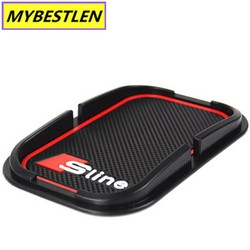 MyXL GR-M2 Auto rubber telefoon mat GPS ondersteuning Auto Styling Voor Audi A1 A3 A5 A7 A6 A8 Q3 Q5 Q7 S3 S7 S5 RS3 Sline 2000-