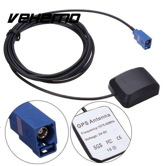VEHEMO Auto Auto GPS Actieve Remote Antenne Antenne Mast Adapter Connector Plug 1575.42 MHz Voor VW