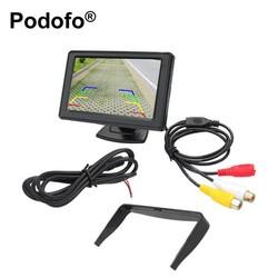 "MyXL Podofo Universele 4.3 ""TFT Lcd-scherm Monitor Parking Achteruitkijk-systeem voor Backup Reverse Camera DVD VCD Auto TV"
