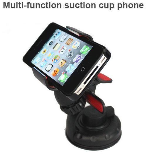 Dashboard voorruit smart telefoon auto 360-degree roterende zuignap houder multifunctionele mobiele