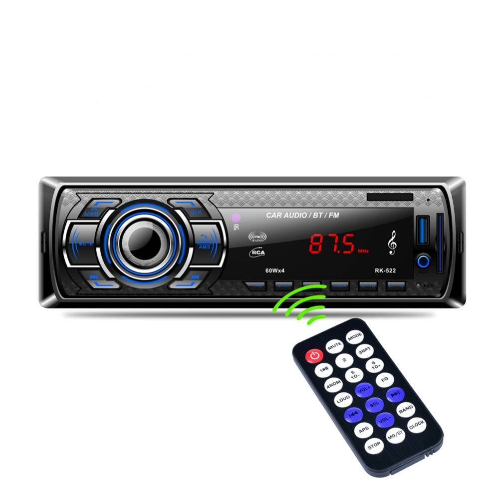 1Din In-Dash Auto Radio Bluetooth Stereo Speler Handsfree AUX-IN USB-Sd-kaart Mp3-speler 12 V Auto A