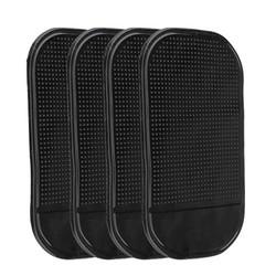 MyXL 4 Stks Zwart Universele Auto Magic Sticky Pad Anti Slip Mat antislip Sticky Dashboard Silicagel Pad voor Mobiele Telefoon GPS Houder