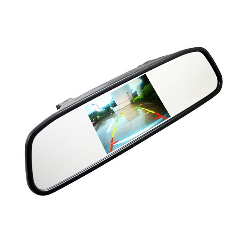 4.3 4.3 inch TFT LCD-KLEURENSCHERM Car achteruitkijkspiegel monitor video dvd-speler car audio auto