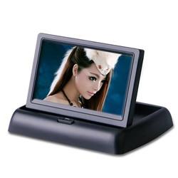 "MyXL Opklapbaar 4.3 ""4.3 inch TFT lcd-scherm monitor auto DVD spelers LCD monitor Kleur Car Achteruitkijkspiegel Monitor voor Auto Reverse camera"