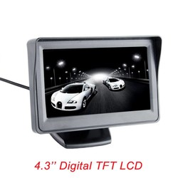 MyXL Viecar 4.3-inch kleuren TFT LCD monitor display parkeer achteruitkijkspiegel backup 4.3 ''video PAL/NTSC