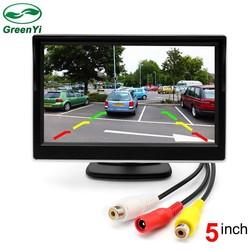 "MyXL GreenYi 2 Manieren Video-ingang 5 Inch TFT Auto Video Player 5 ""Parkeer Monitor Voor Achteruitrijcamera Parkeerhulp Systeem"