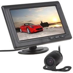 MyXL 4.3 Inch Auto Monitor met Camera 480x272 TFT LCD 2-Channel Video-ingang Auto Achteruitrijcamera Monitors + E306 Kleur CMOS/CCD Camera