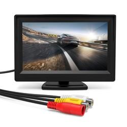 MyXL Podofo 5 Inch Auto Monitor TFT LCD-KLEURENSCHERM 2 Video ingangen 2 Beugels Voor Achteruitrijcamera Backup Reverse Camera DVD Auto-styling