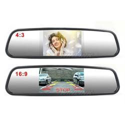 MyXL Auto Parkeerhulp Systeem 4.3 Inch TFT LCD Auto Reverse Spiegel achteruitkijkspiegel Monitor 4 Led-verlichting IR Auto Achteruitrijcamera