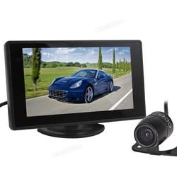 MyXL 4.3 Inch Kleuren TFT LCD Car Achteruitkijkspiegel Monitor 480x272 Auto Backup Parking Monitor + Auto Achteruitrijcamera Reverse Camera
