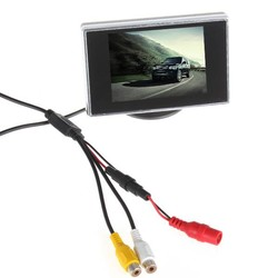 MyXL Collectie Mini 3.5 ''TFT LCD Auto Monitor Parking Auto Achter Reverse Auto Monitor Voor Achteruitrijcamera DVD 2Ch Video-ingang