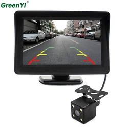 MyXL 4.3 Inch Auto Achteruitkijkspiegel Monitor Met LED Nachtzicht Auto Achteruitrijcamera