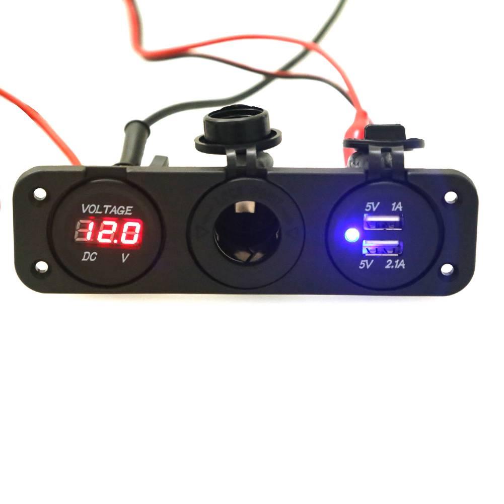 12 v dual usb auto sigarettenaansteker splitter dc 5 v 2.1a power adapter oplader voor iphone digita