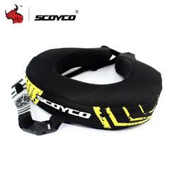 MyXL SCOYCO Motorfiets Hals Protector Downhill ATV Mtb Lange Afstand Racing Beschermende Brace Motocross Neck Guard Zwart