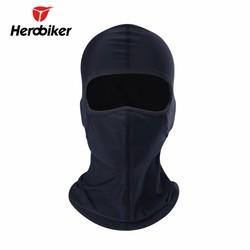 MyXL HEROBIKER Motorfiets Maskers Mannen Zwart Speaker Grill Mesh Volgelaatsmasker Zomer Ademend Motorfiets Zon-bescherming Bivakmuts