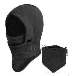 MyXL 6 in 1 Thermische Fleece Kap Dubbele Lagen Dikker Warm Vol gezicht Cover Winter Ski Mask Beanie CS Hoed En Gorro Invierno # HP