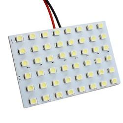 MyXL Universele Auto Dome Panel Led-verlichting Automobile Interieur Lezen Bollen lampen 48 LED SMD 1210 Festoen T10 Socket BA9S Auto Styling