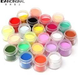 MyXL 24 Kleur Jumbo Fijne Shiny Glitter Nail Art Kit Acryl UV Poeder Dust Tip 3D DIY