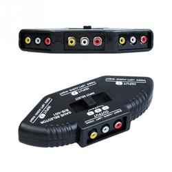 MyXL 3 Way Audio Video AV RCA Switch Selector Box Splitter Voor XBOX360 DVD PS2 PS3 met RCA Kabel
