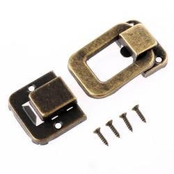MyXL 1 st antieke doos vergrendelingen decoratieve lade hasp sieraden houten doos koffer hasp klink toggle met schroef vintage hardware 48*32mm