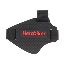 MyXL HEROBIKER slijtvaste Rubber Motorfiets Versnellingspook Pad Rijden Schoenen Scuff Mark Protector Motor Laarzen Cover Shifter Guards