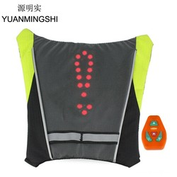 MyXL YUANMINGSHI Motorfiets Reflecterende Veiligheid Vest LED Rugzak Vest Pilot Lamp Fietsverlichting + Motorbike Fietsen Reflecterende LED Vest