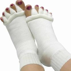 MyXL 1 Paar Voet Gezondheidszorg Vijf Teen Sokken Teenseparators Bunion Pedicure Pijnbestrijding Sokken Vinger Massager Teen Separator Bone Care